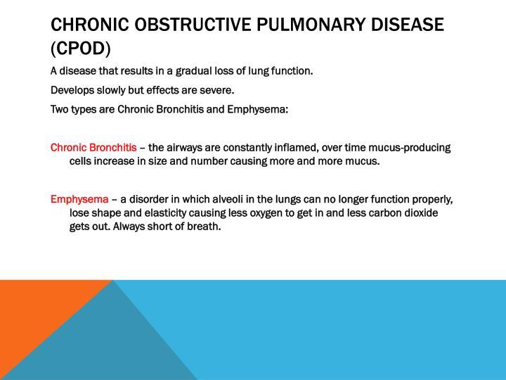 Chronic obstructive pulmonary disease (