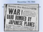 december 7th 1941