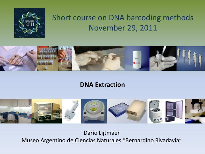 Short course on DNA barcoding methods