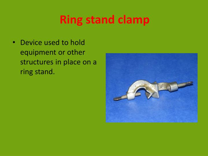 Ring stand clamp