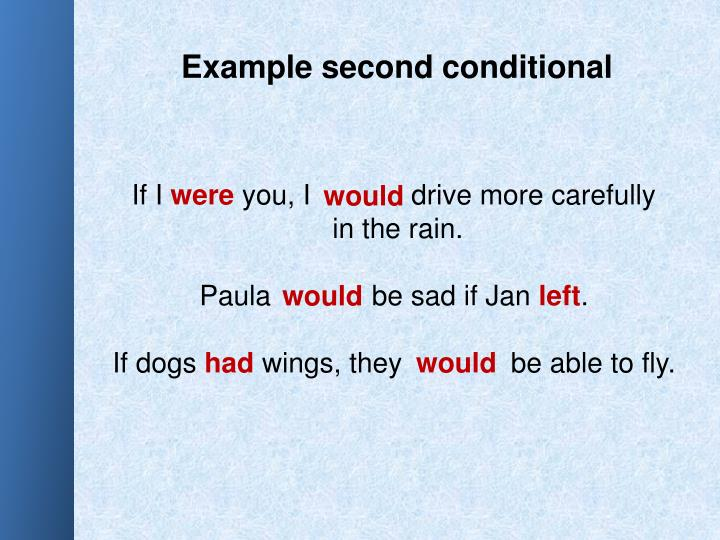 Example second conditional