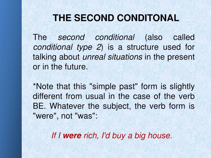 THE SECOND CONDITONAL