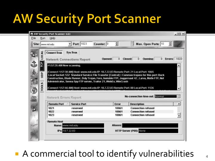 AW Security Port Scanner