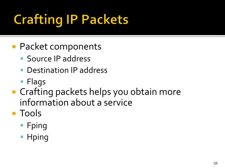 Crafting IP Packets