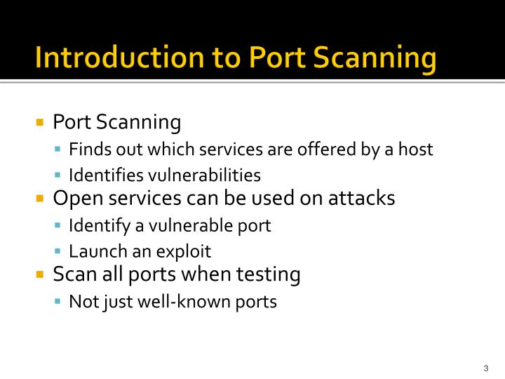 Introduction to Port Scanning
