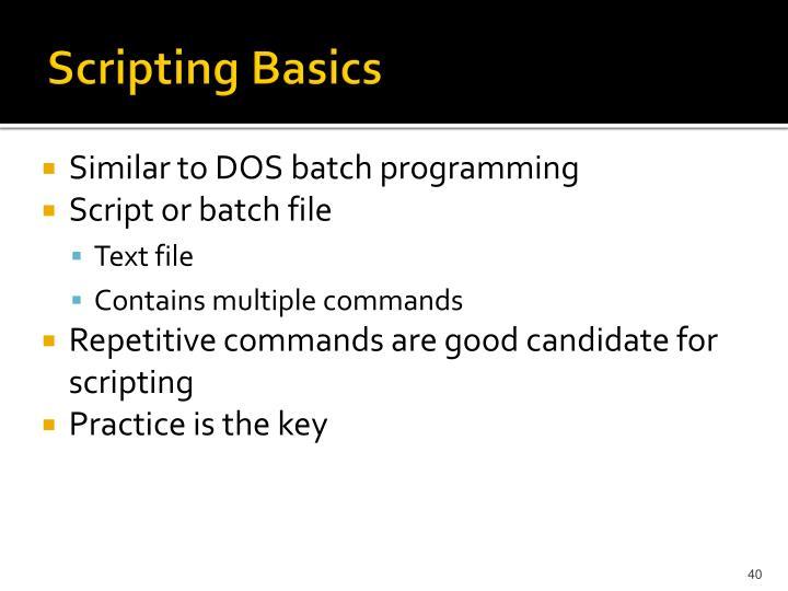 Scripting Basics