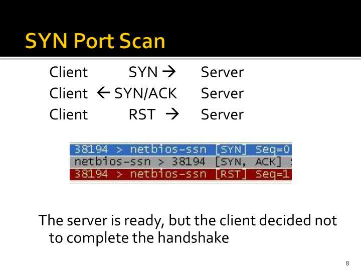 SYN Port Scan