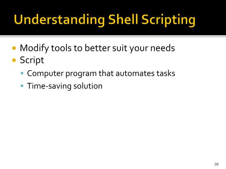 Understanding Shell Scripting