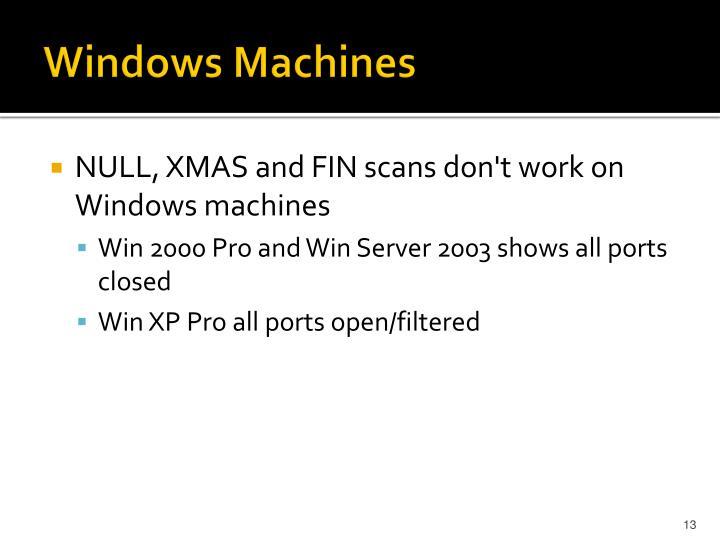 Windows Machines
