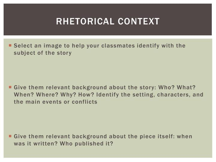 Rhetorical Context