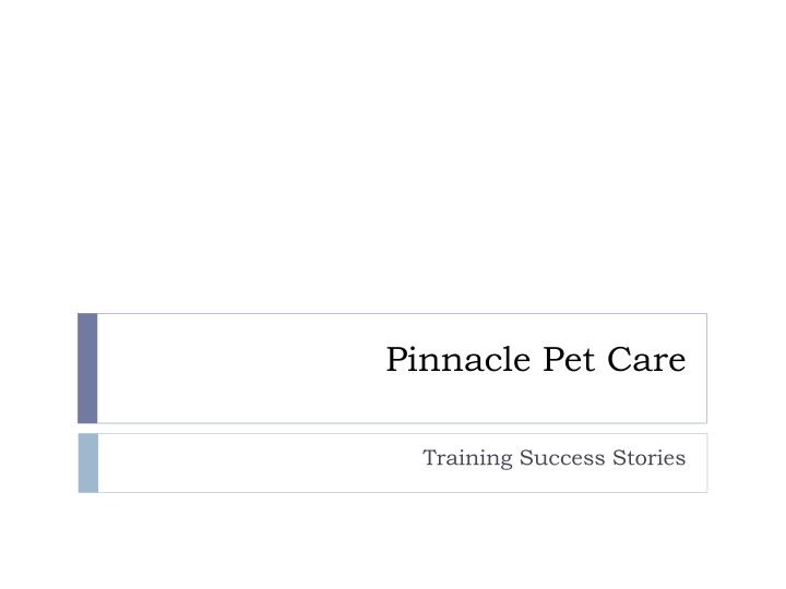 Pinnacle pet care