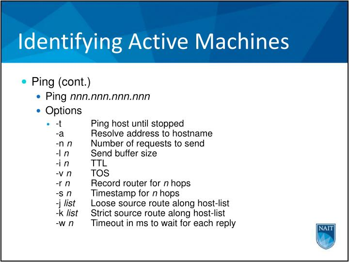 Identifying Active Machines