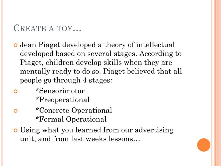 Create a toy…