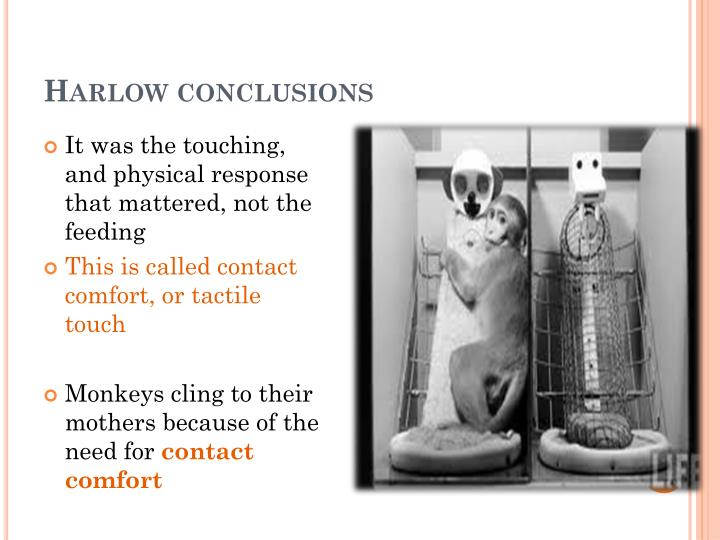 Harlow conclusions