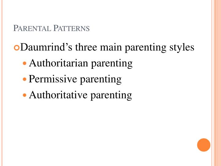 Parental Patterns