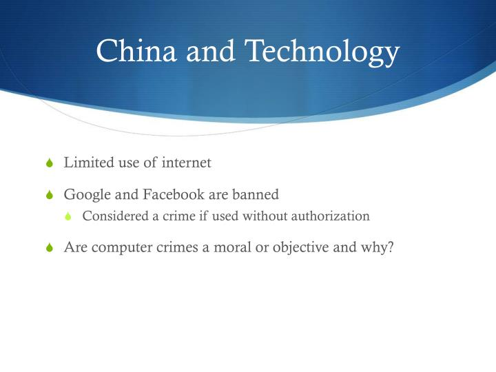 China and Technology