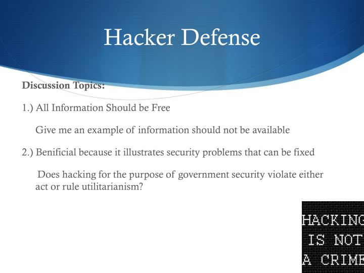 Hacker Defense