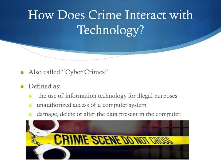 How Does Crime Interact with Technology?