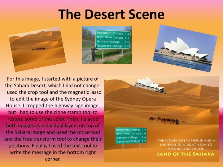 The Desert Scene