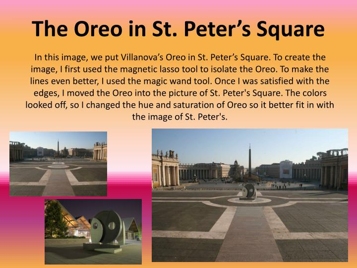 The Oreo in St. Peter's Square