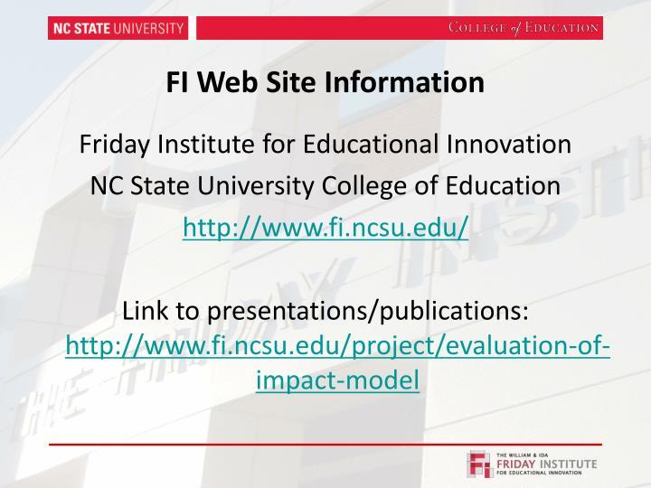 FI Web Site Information