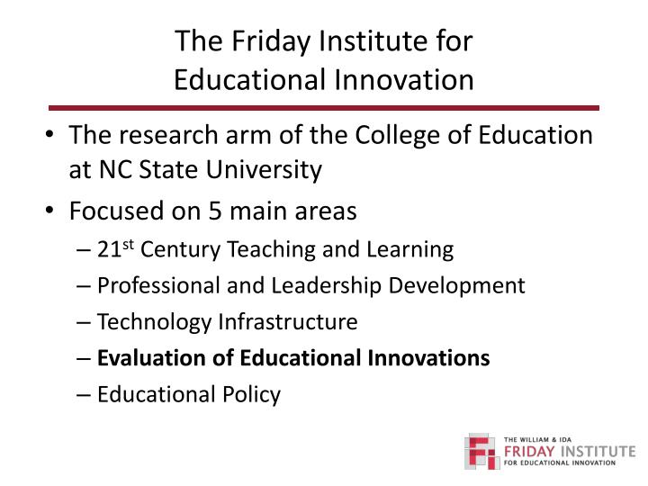 The friday institute for educational innovation1