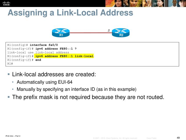 Assigning a Link-Local Address