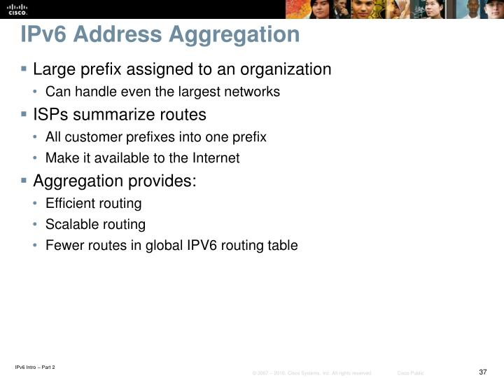 IPv6 Address Aggregation