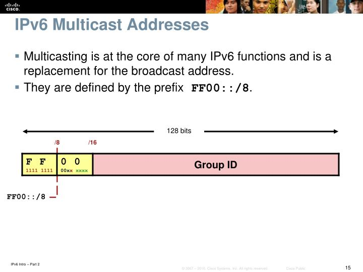 IPv6 Multicast Addresses