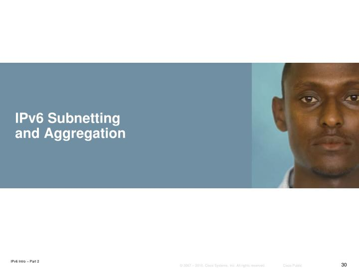 IPv6 Subnetting and Aggregation