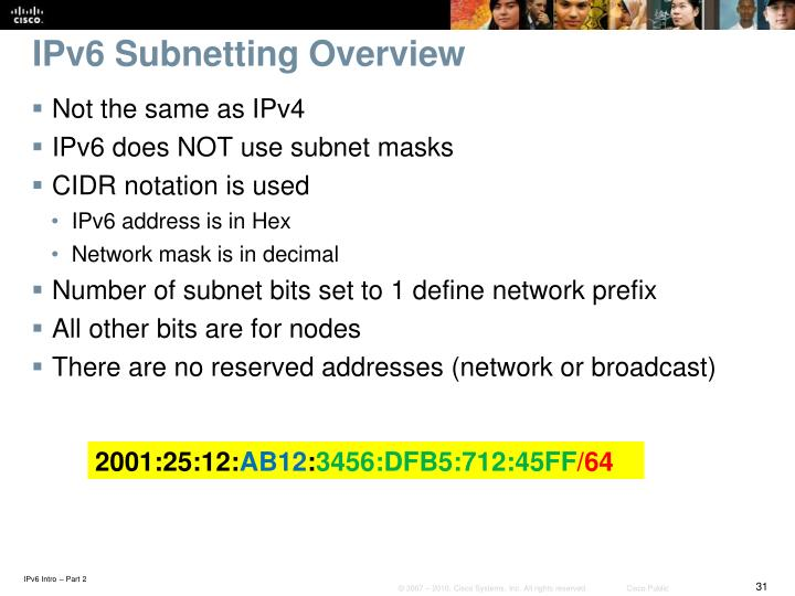 IPv6 Subnetting Overview