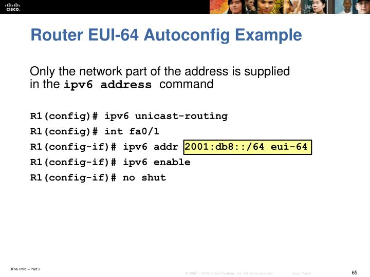 R1(config)# ipv6 unicast-routing