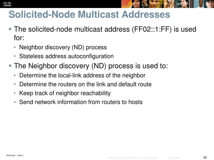 Solicited-Node Multicast Addresses