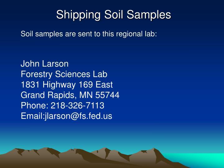 Shipping Soil Samples