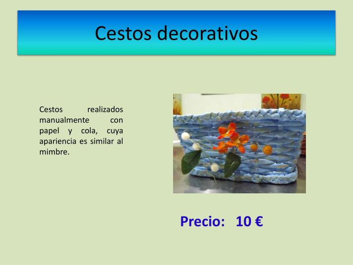 Cestos decorativos