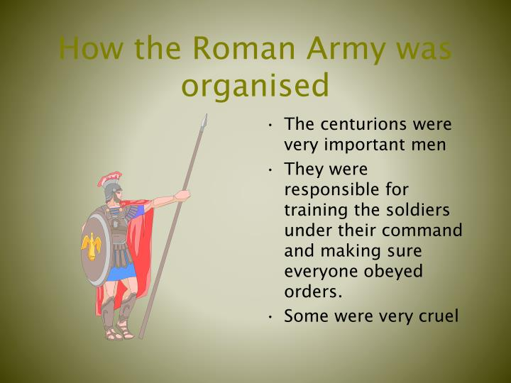 How the Roman Army was organised