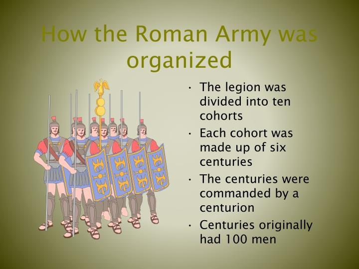How the roman army was organized