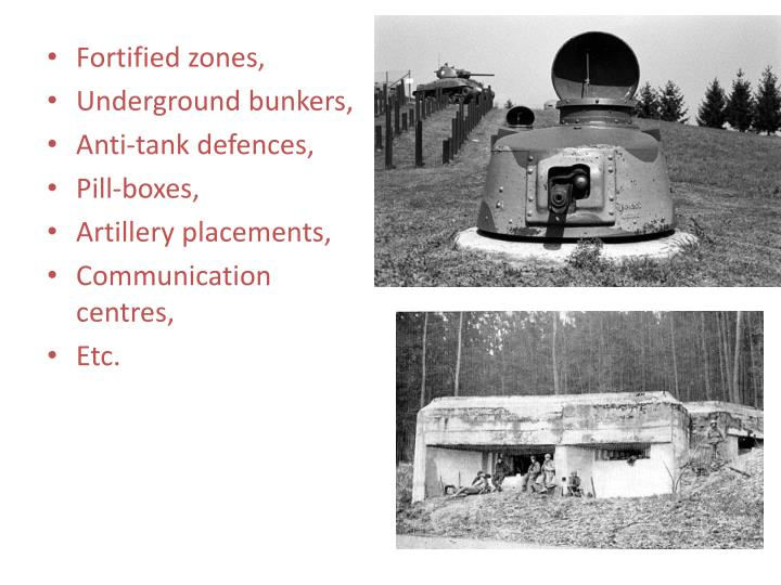 Fortified zones,