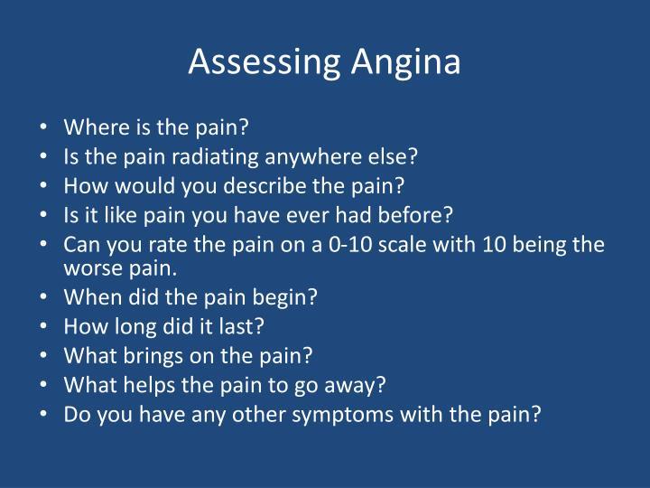 Assessing Angina
