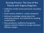nursing process the care of the patient with angina diagnosis
