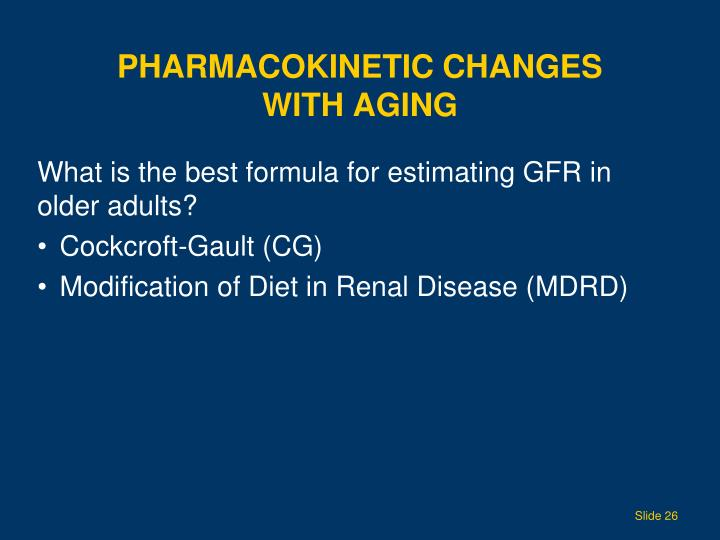 Pharmacokinetic Changes