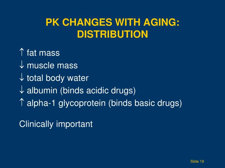 PK Changes with Aging: DISTRIBUTION