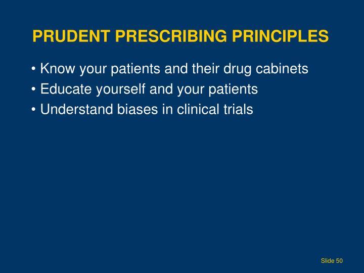 Prudent Prescribing Principles