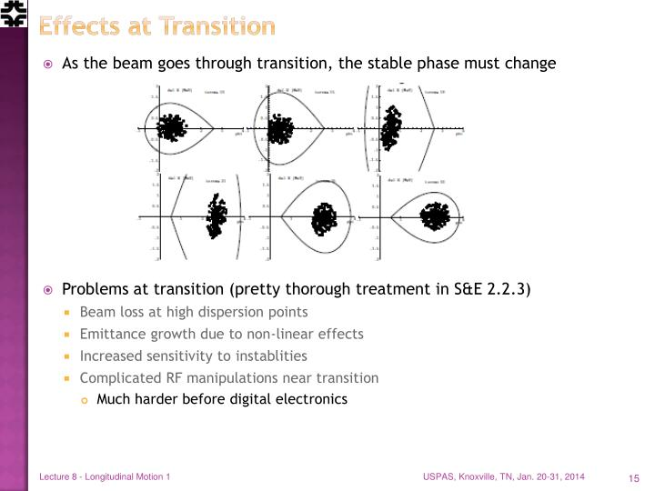 Effects at Transition