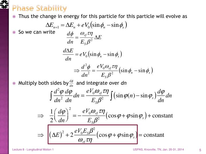 Phase Stability