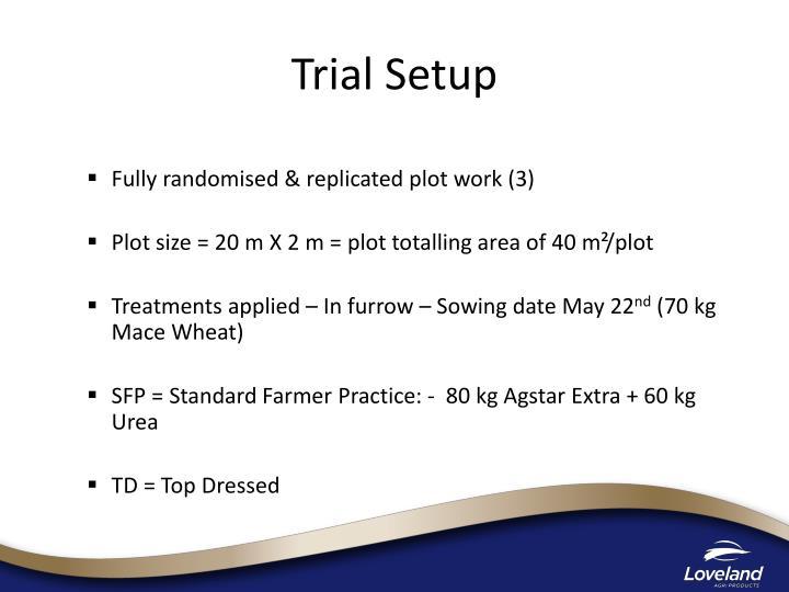 Trial Setup