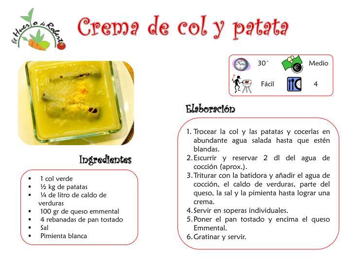 Crema de col y patata