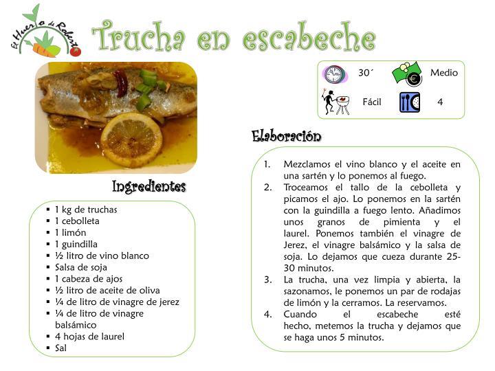 Trucha en escabeche