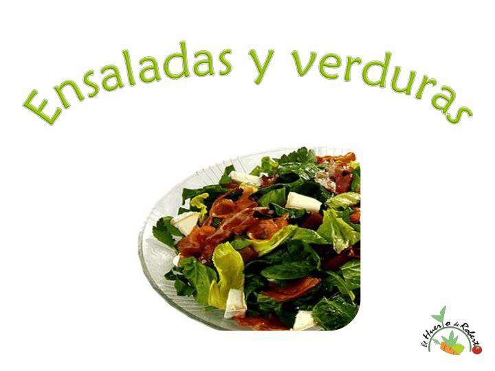 Ensaladas y verduras