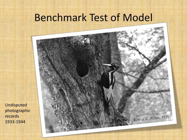 Benchmark Test of Model